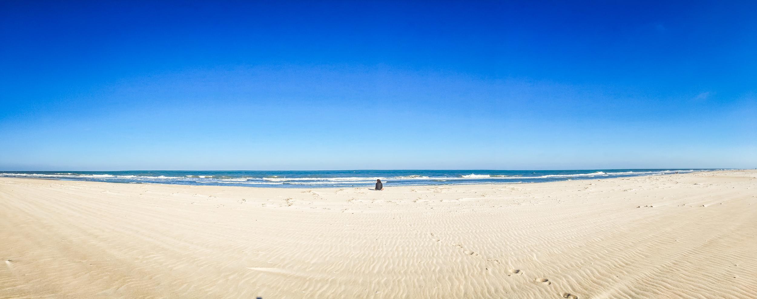 Alone at Chincoteague beach