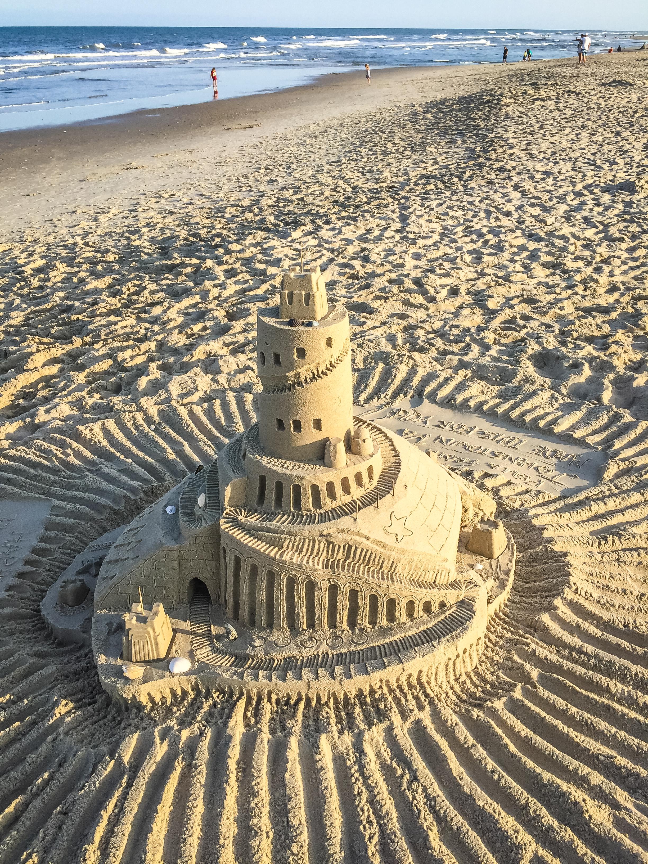 Sand Castle - Chincoteague beach
