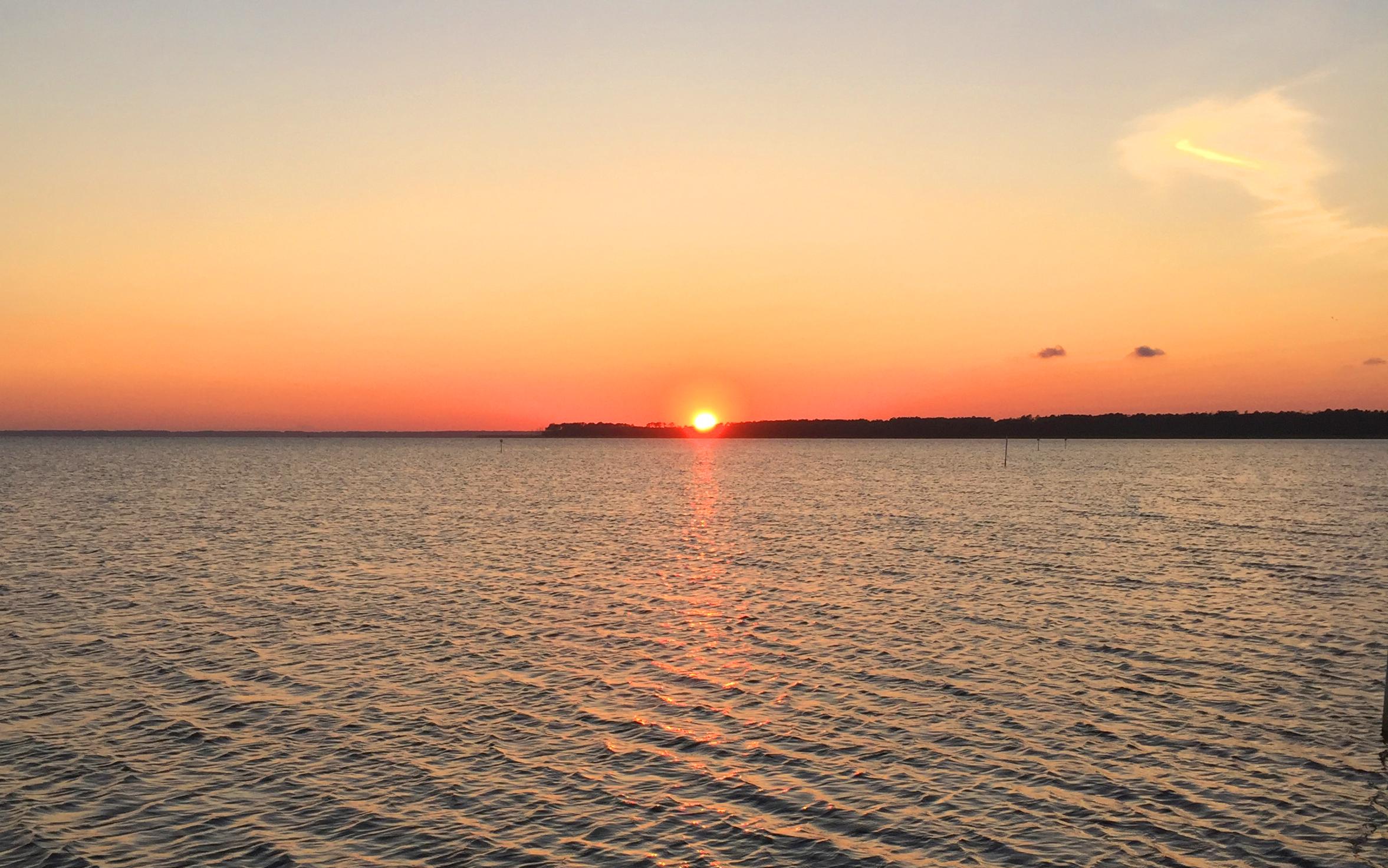 Sunset in Chincoteague Beach