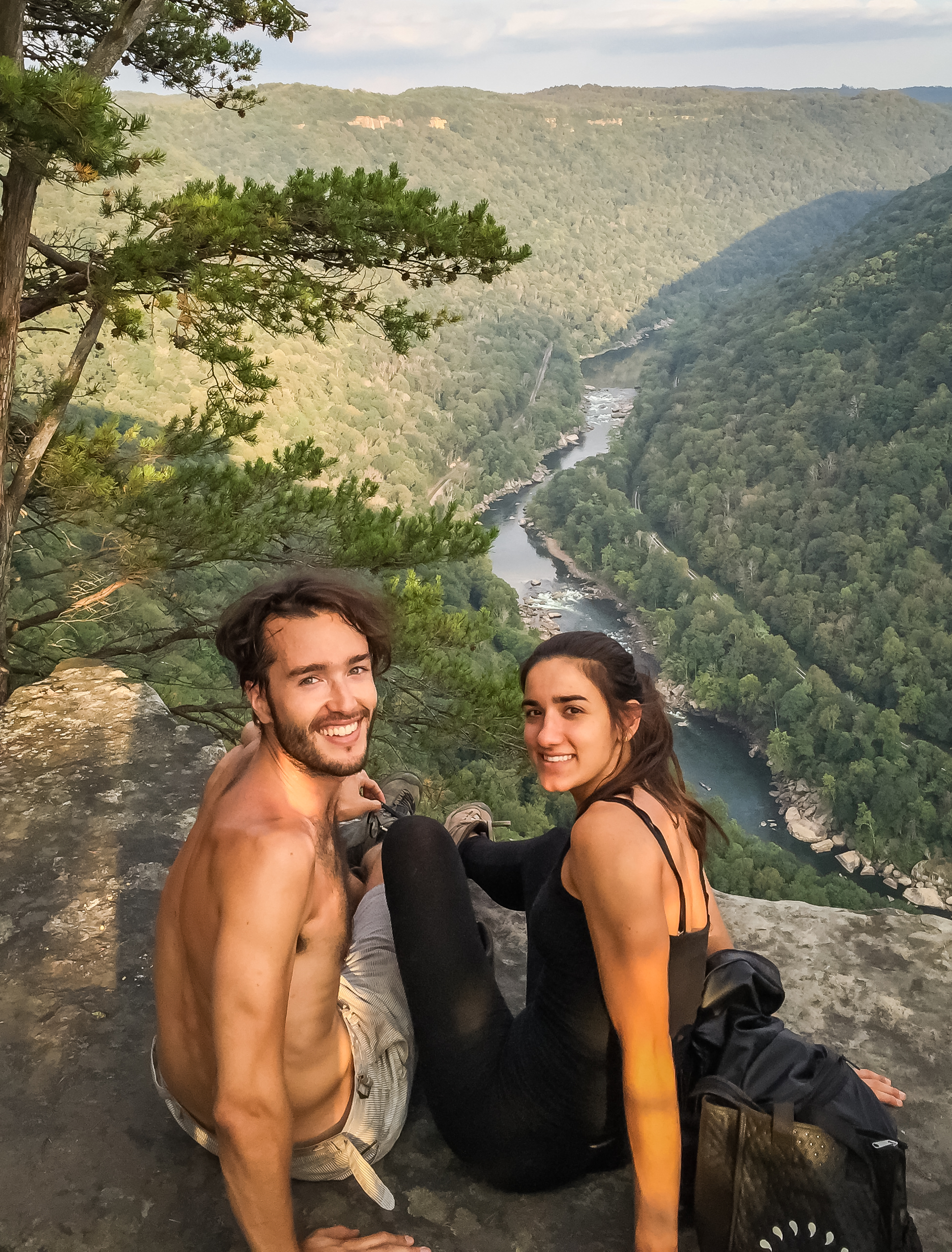 Overlook in the Endless Wall trail, New River Gorge