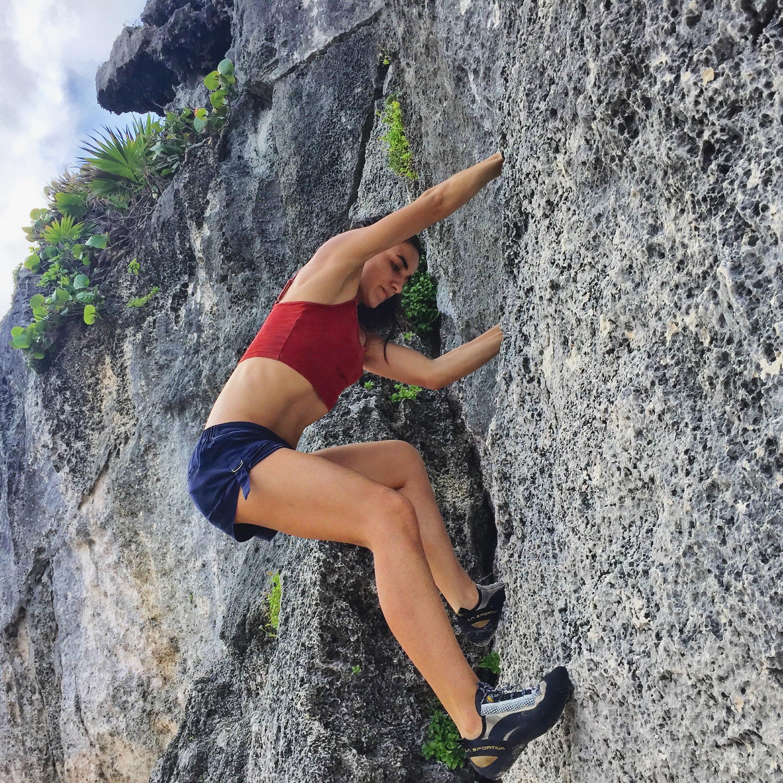Rock climbing in Tulum, Mexico
