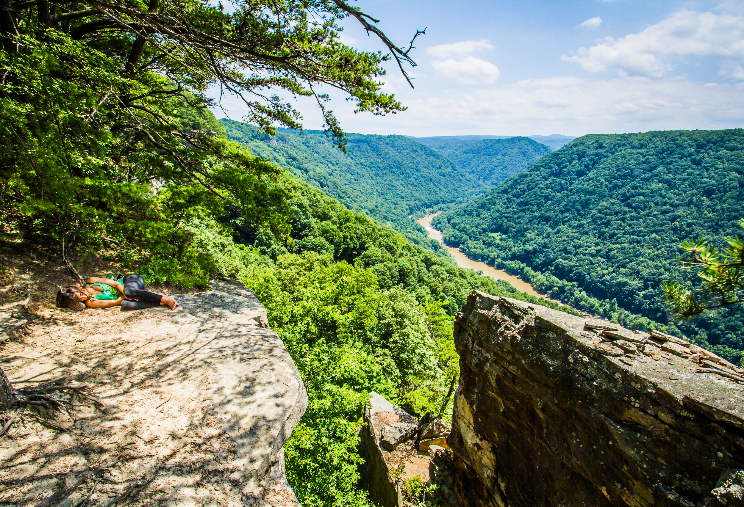 Endless wall overlook, New River Gorge