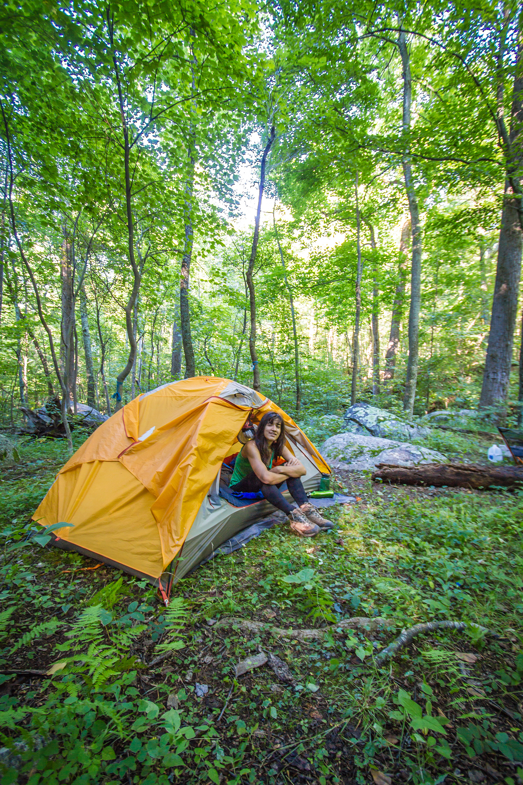 Camping on a flat spot