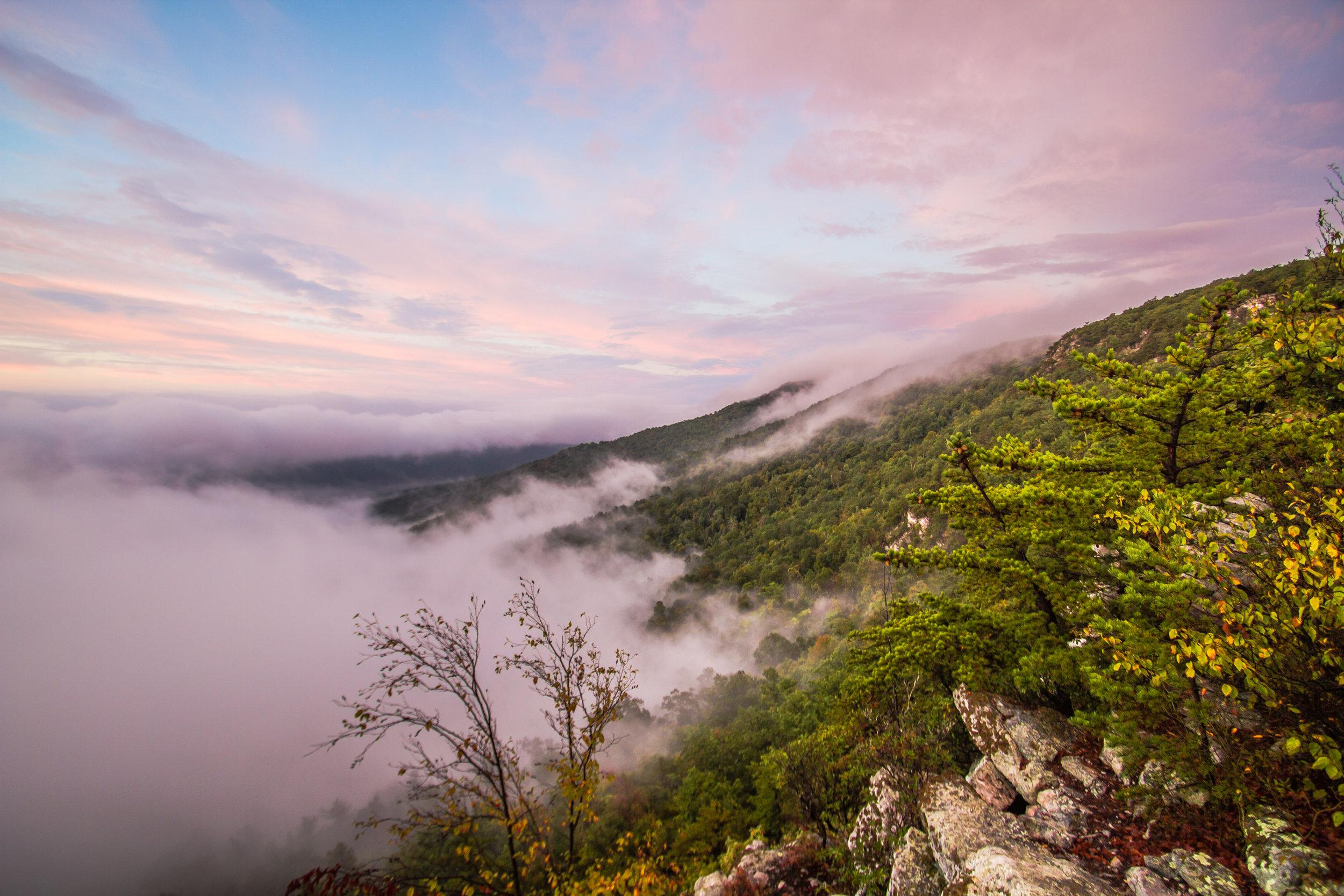 Sunrise at White Rocks, George Washington National Forest