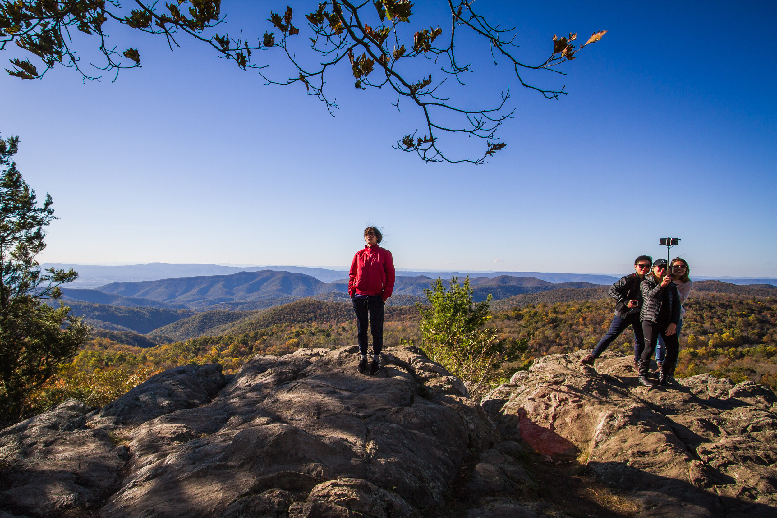 Humans being humans:West view from The Point Overlook, Shenandoah