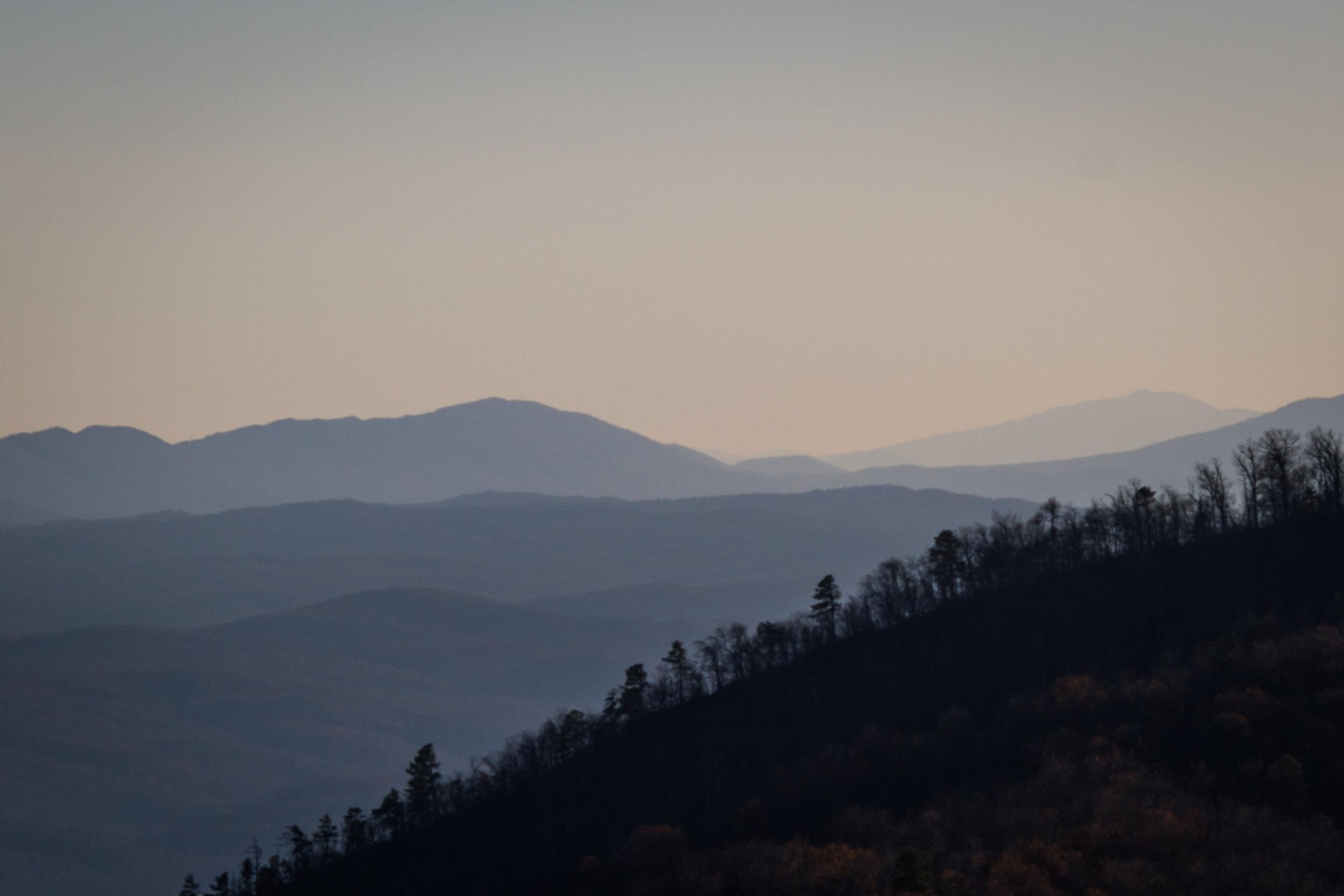 Views from Big Schloss peak, George Washington National Forest