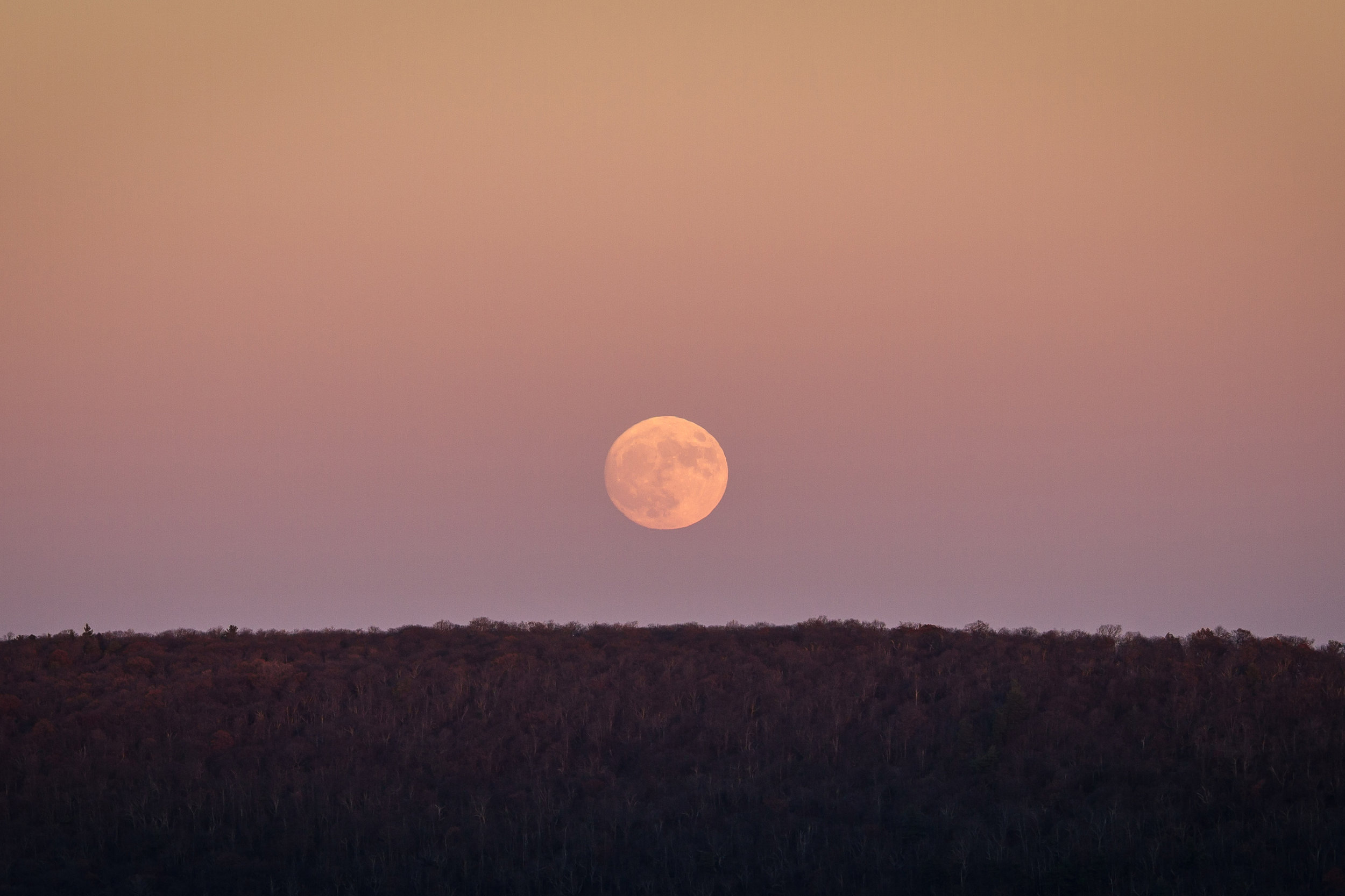 Moonrise at Big Schloss, George Washington National Forest