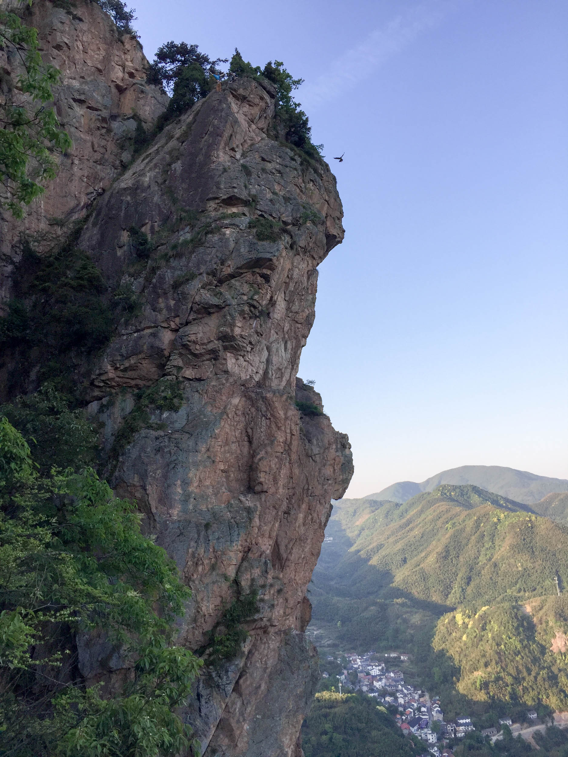 Multipitch climbing at Lion's Head, Lin'an