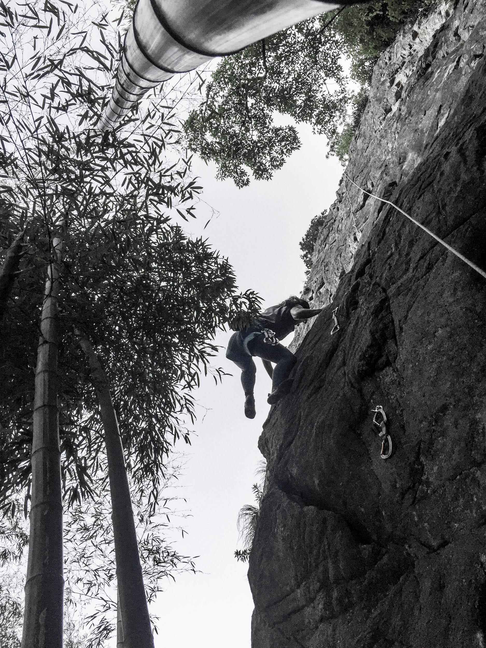 Climbing in Linan