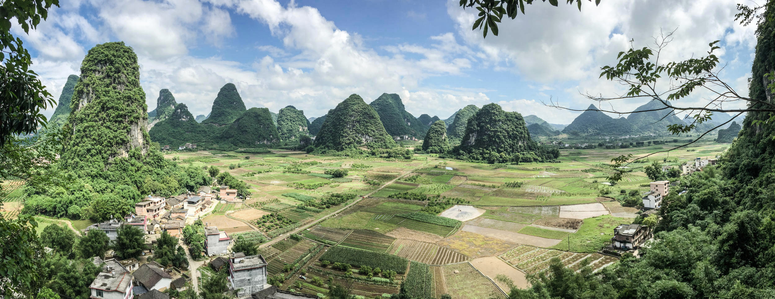View from Area 51 climbing crag, Yangshuo