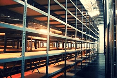 Shop equipment shelving bulk rack