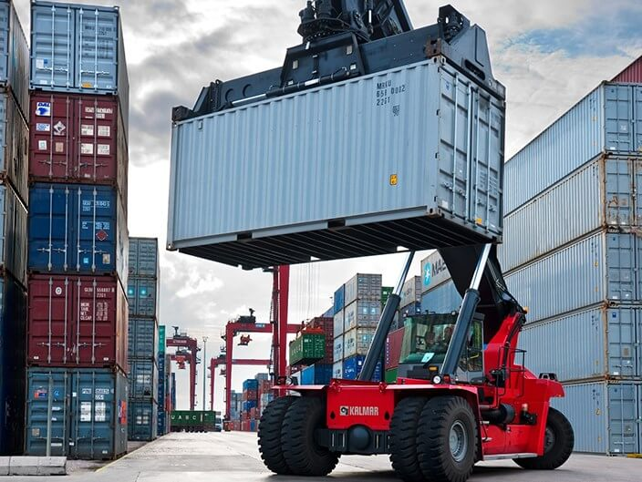 Kalmar Reach Stacker Container Handler with Container Rentals