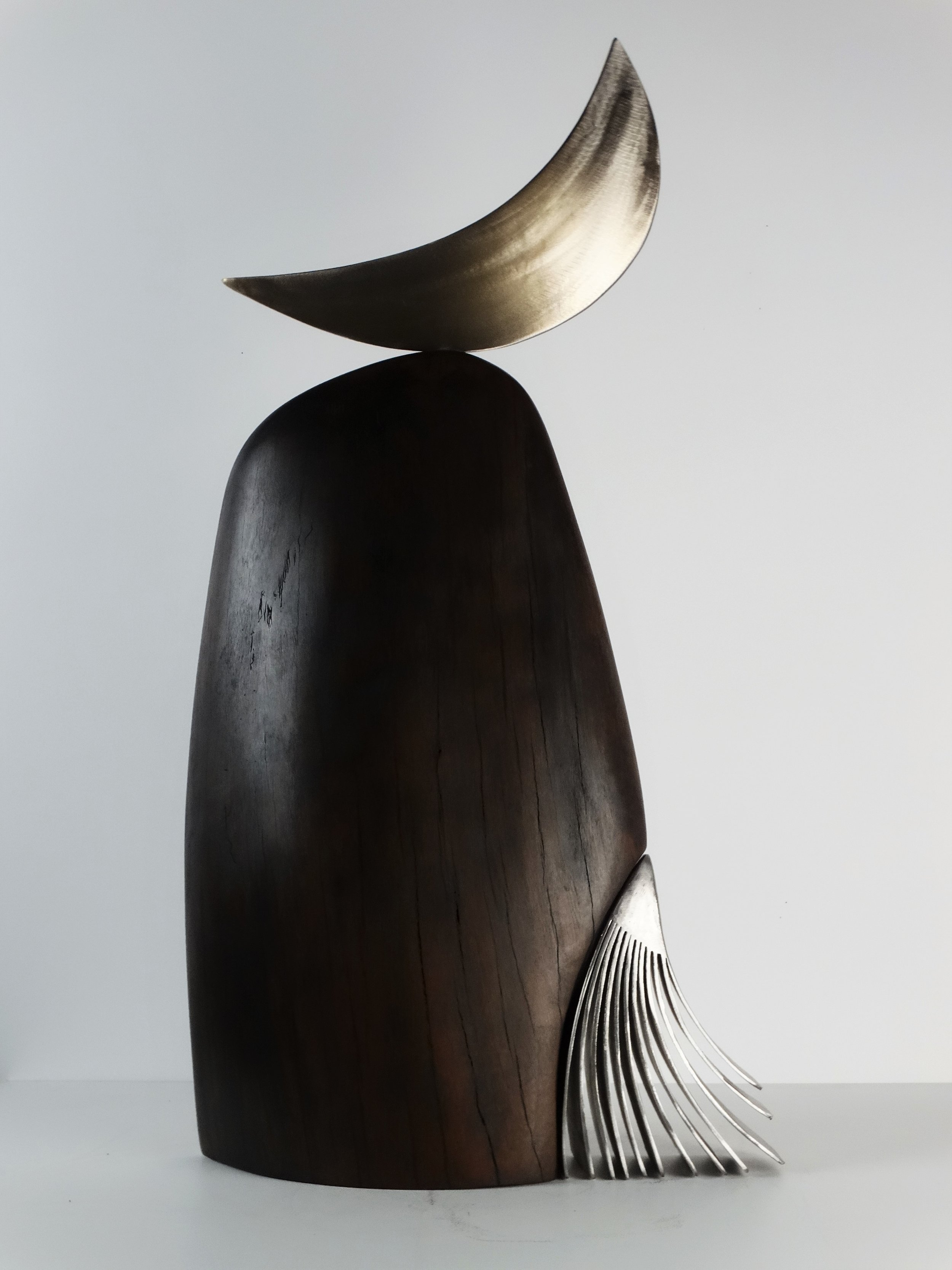 Lovesong (2018) - stainless steel, found wood..JPG