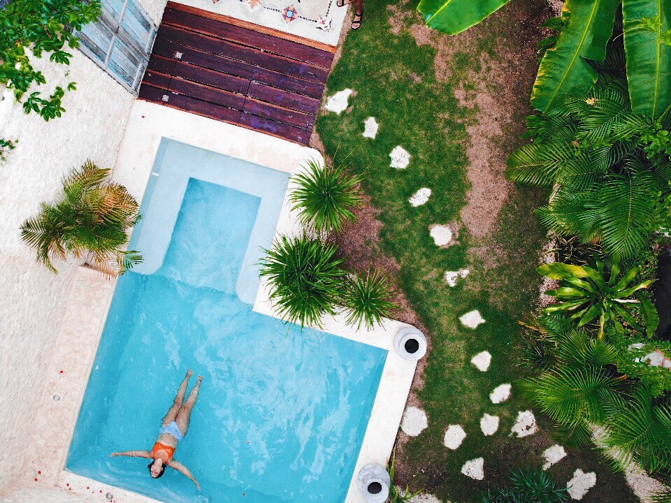 As if I've fallen backwards into a pool trusting that the water will hold and not suffocate me, I surrender to God's plan. - Click here to tweet this.