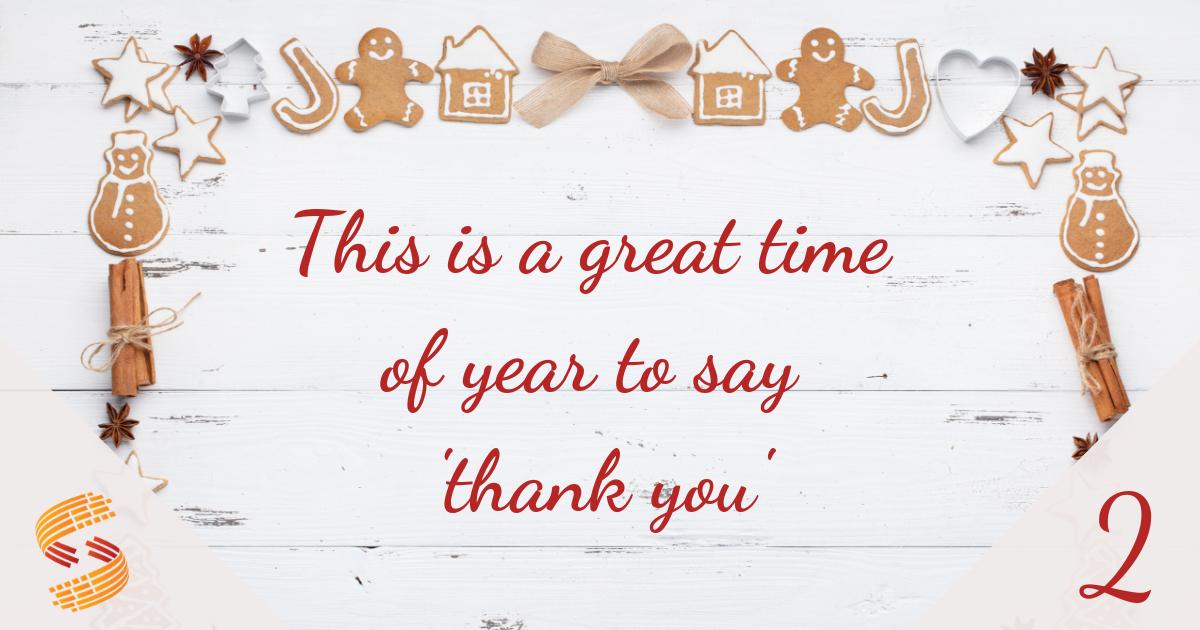 Using social media to say thank you