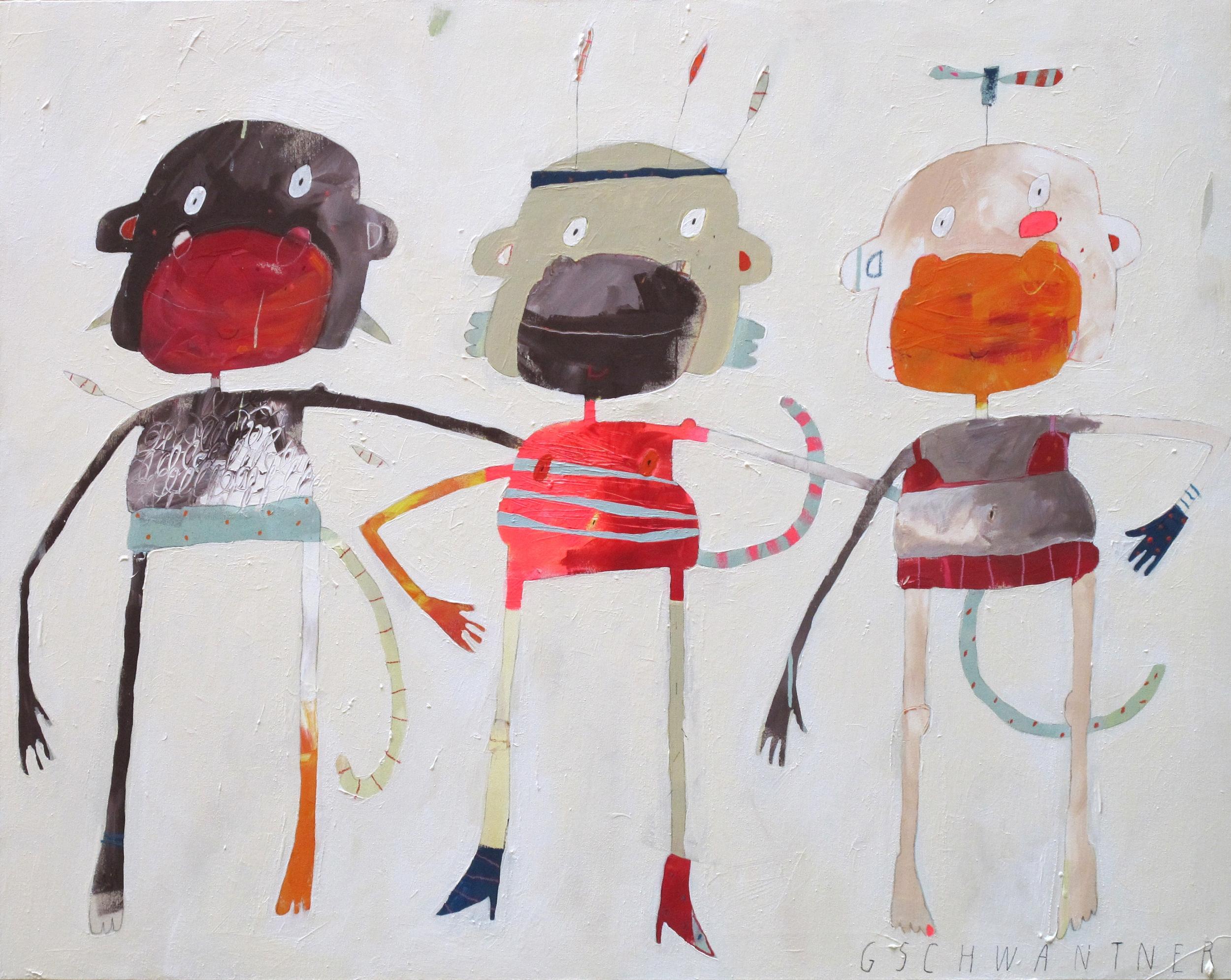 Drei Affen, 2011, 145 x 115
