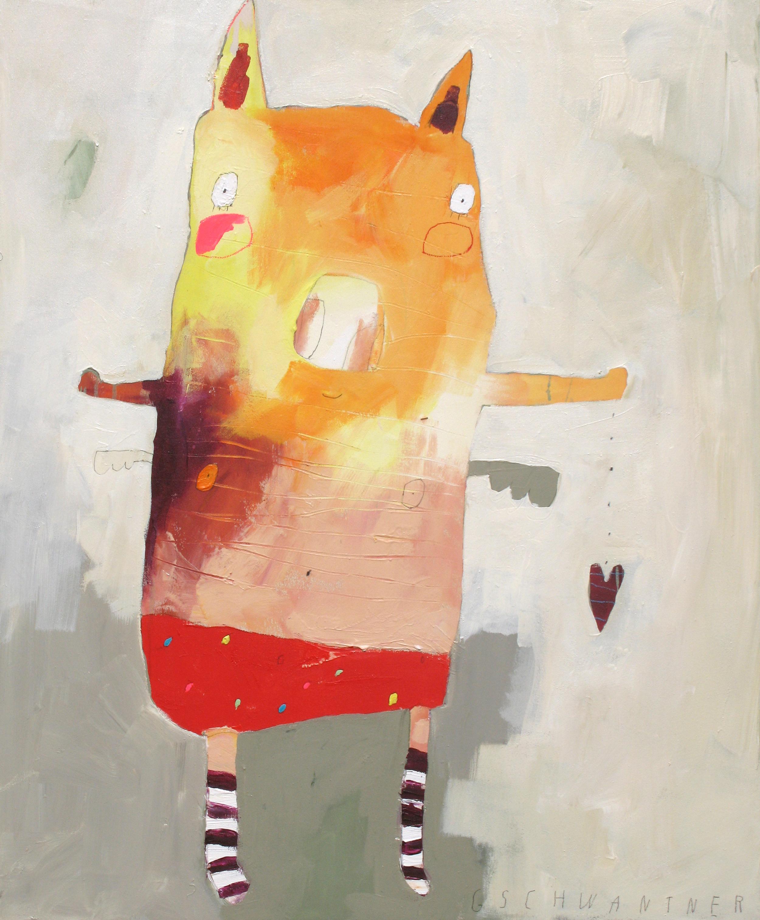 Ringelstrumpfschwein klein, 2009, 78 x 94