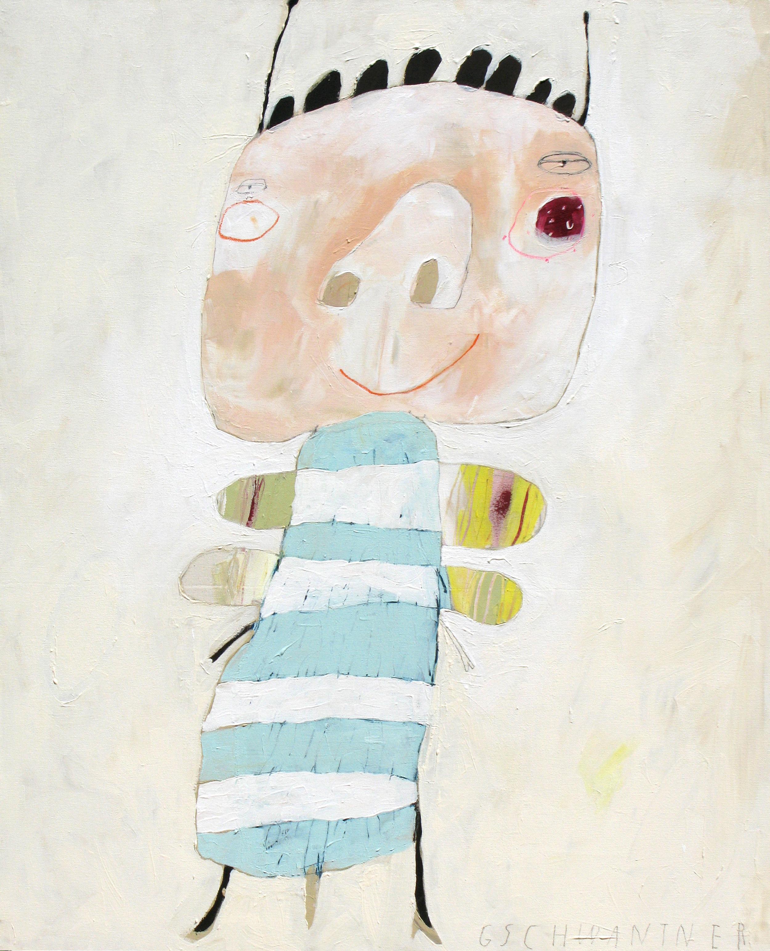 Blaues Herzwesen, 2008, 103 x 133