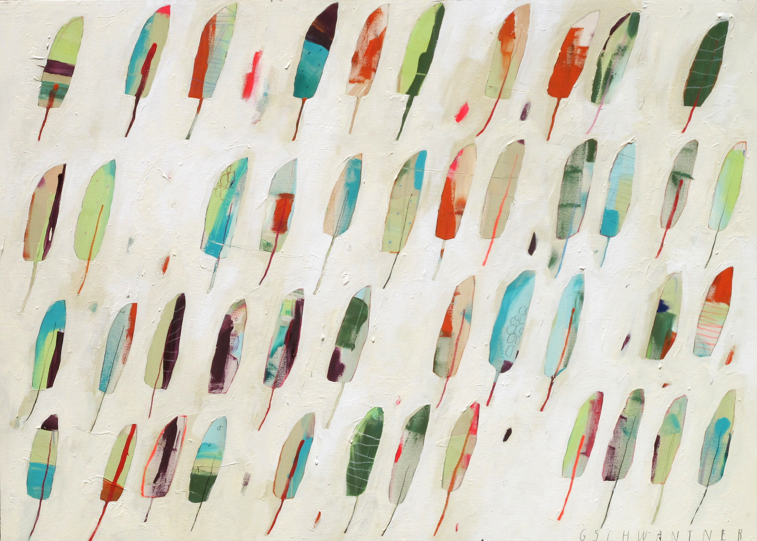 Grüne Federn, 2015 / 170 x 130