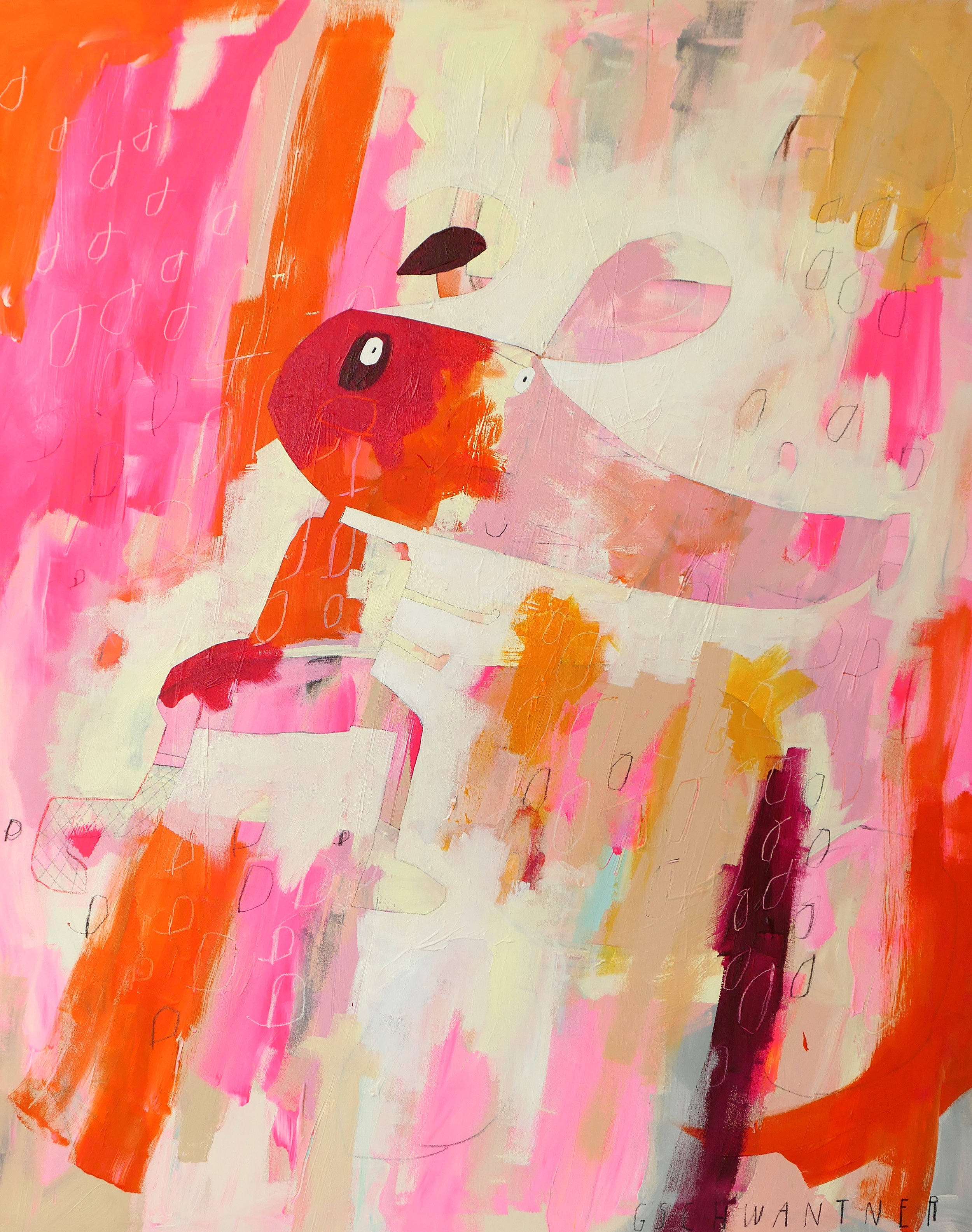 rosarote Laufmaus, 2016 / 115 x 145