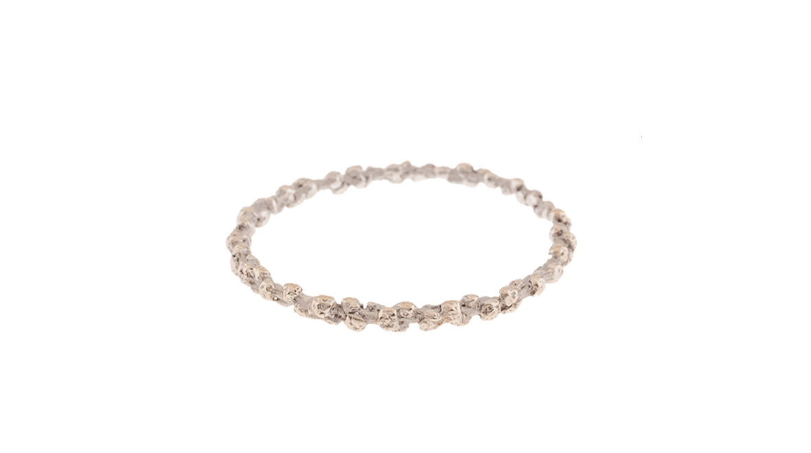 Bracelet, 18 carats white gold.