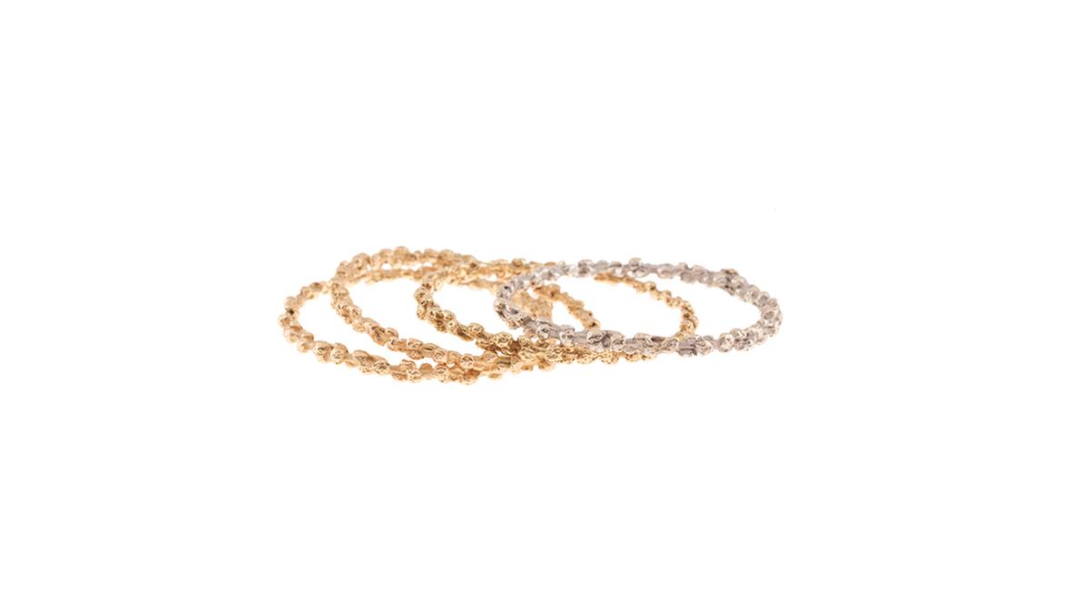 Bracelets, trois ors 18 carats