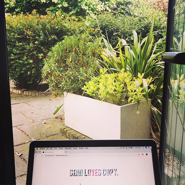 Hello, world! 💚Peeking out my door to take in the urban jungle 🌿👩🏼💻 #battersea #wfh #green