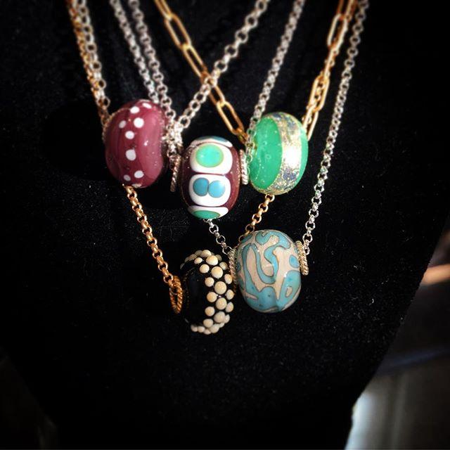 Necklace stack #studio8 #glassbywood