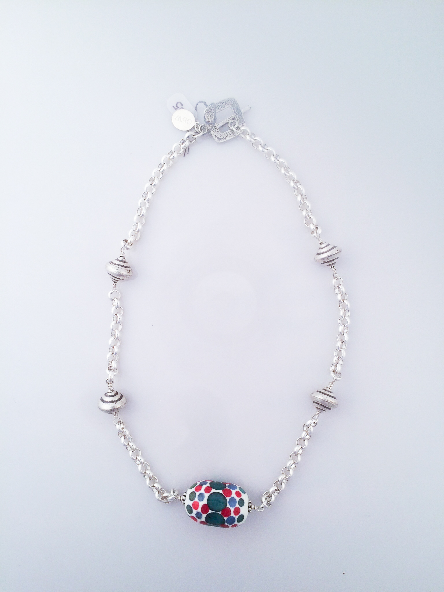 Silver Necklace with Focal Bead.jpg