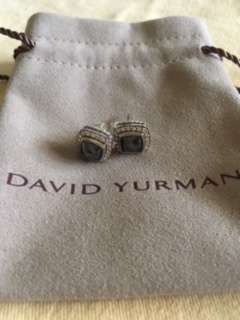 David Yurman Petite Albion Earrings with Hematite and Diamonds 4.JPG