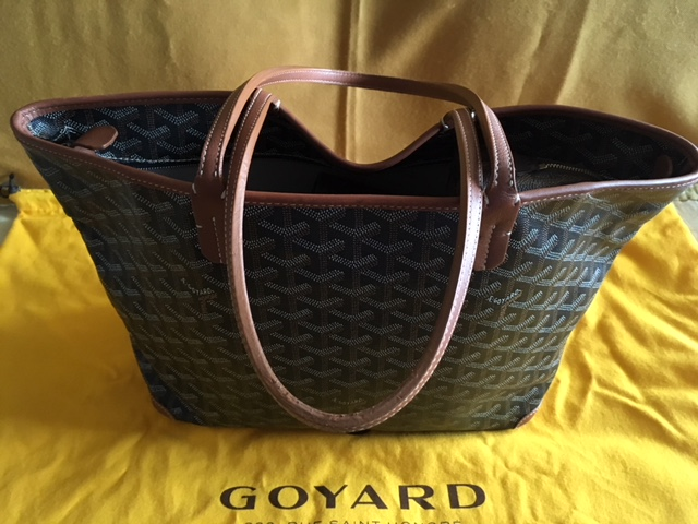 GGZ Goyard Artois PM Black with Tan Trim 1.JPG