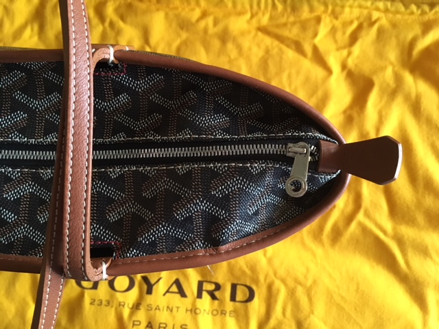 GGZ Goyard Artois PM Black with Tan Trim 4.JPG