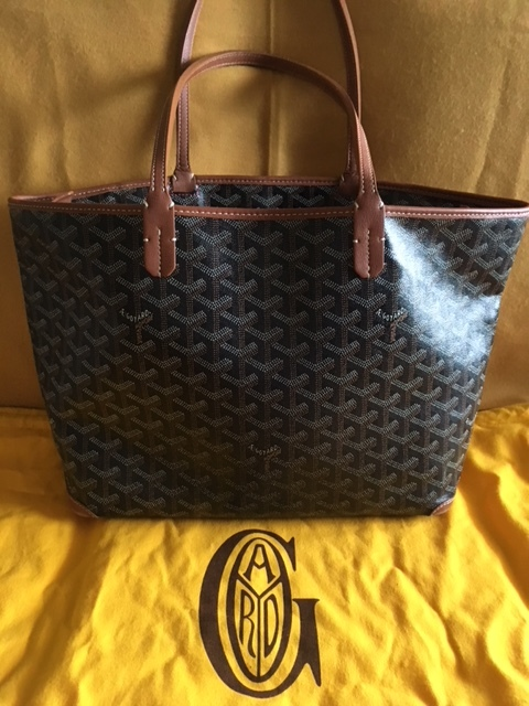GGZ Goyard Artois PM Black with Tan Trim 10.JPG