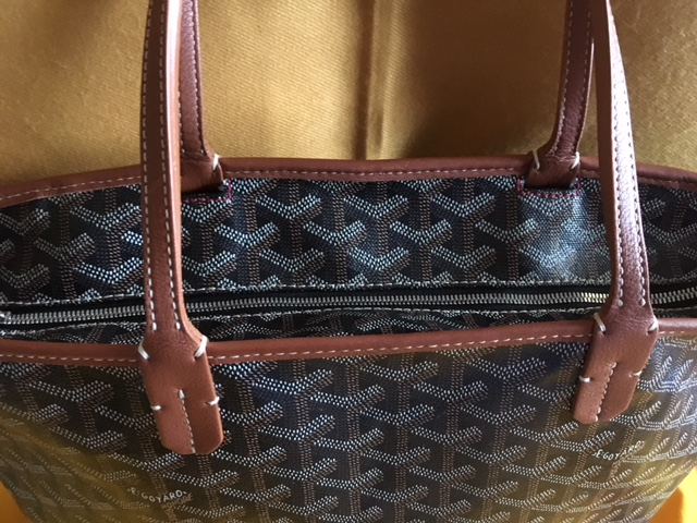 GGZ Goyard Artois PM Black with Tan Trim 11.JPG