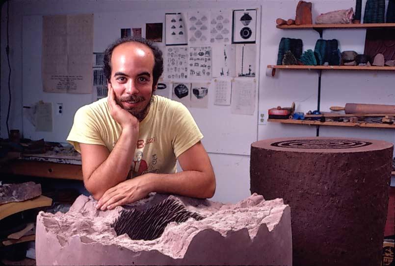 Marks in his Scottsville, New York studio, 1983