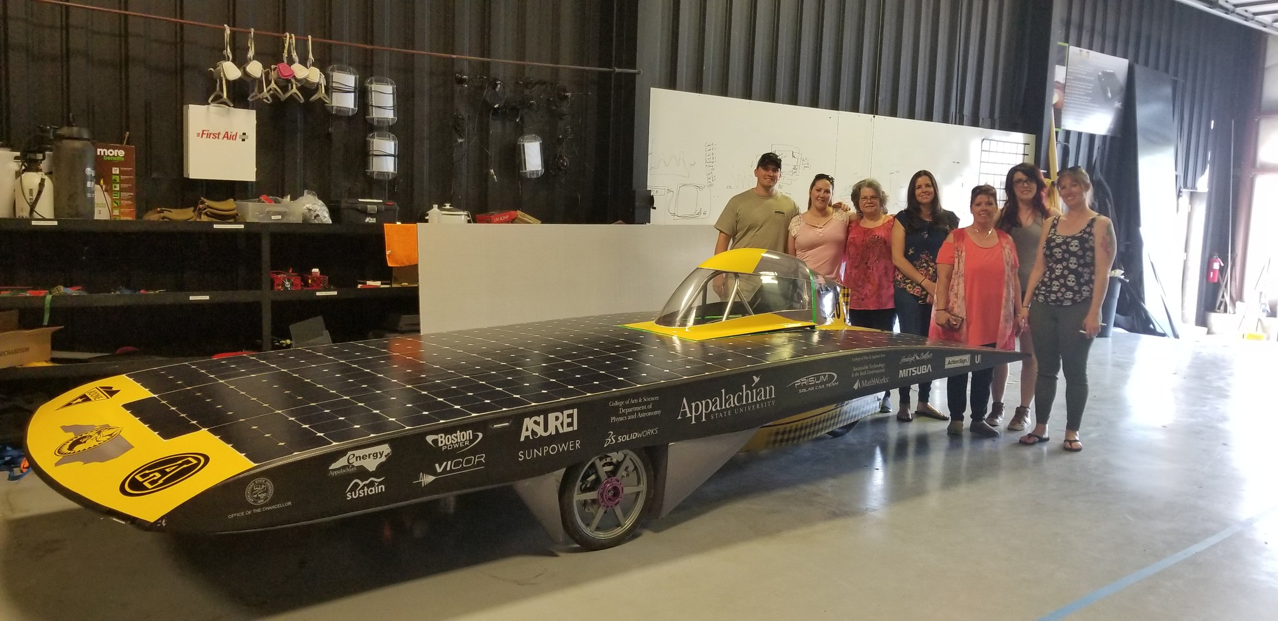 Sunergy Retired Solar Vehicle and my family