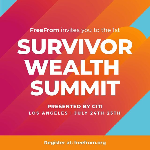 WE'RE ONE MONTH AWAY!⚡️We have an incredible line up of speakers, sessions and on-site services covering everything from healing money trauma to credit building to starting a small business to creating survivor-owned co-ops to policy strategies to support economic justice for survivors. July 24th-25th, Los Angeles, CA. ⚡️SEE YOU THERE! (🔗 in bio to register and/or apply for a scholarship)