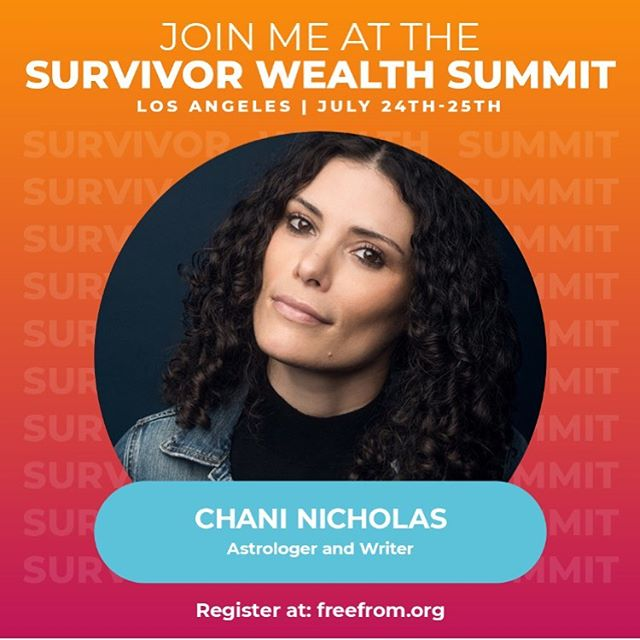 What's your first money memory? What feelings do you notice come up in your body when you talk about money? What does abundance look like to you? Join our most prolific fundraiser and greatest champion, @chaninicholas at the Survivor Wealth Summit next week to explore calling in more abundance and healing our money shame. #survivorwealth2019