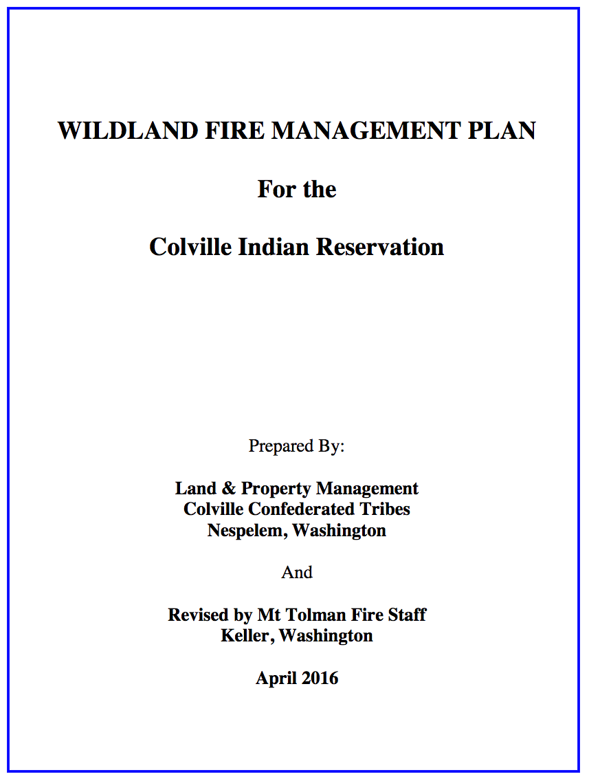 The Fire Management Plan