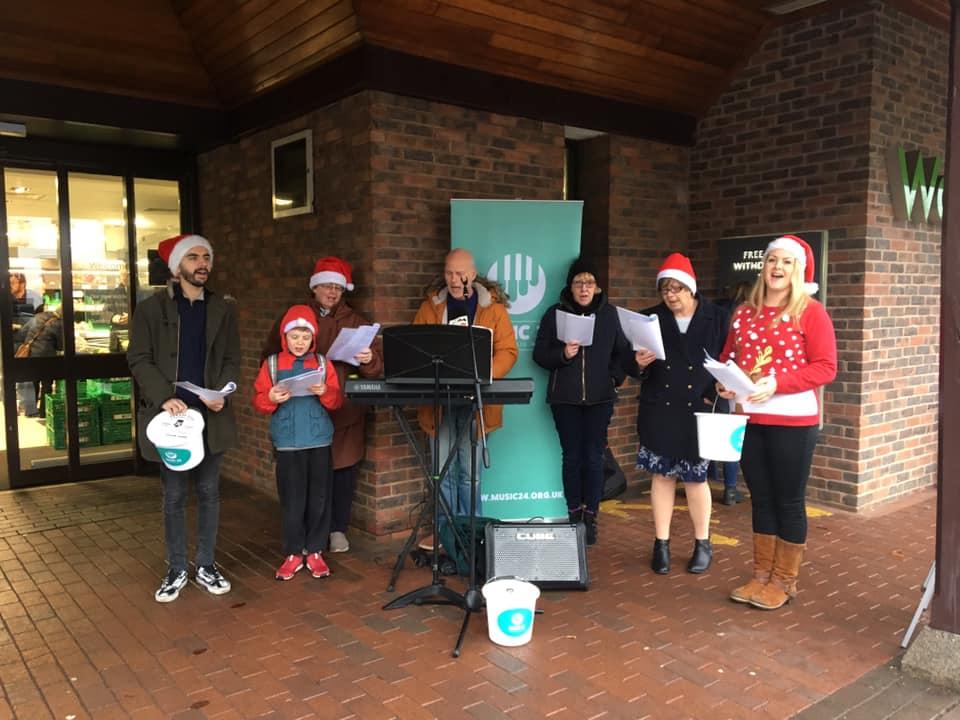 Raising funds Singing Carols, Xmas 2018