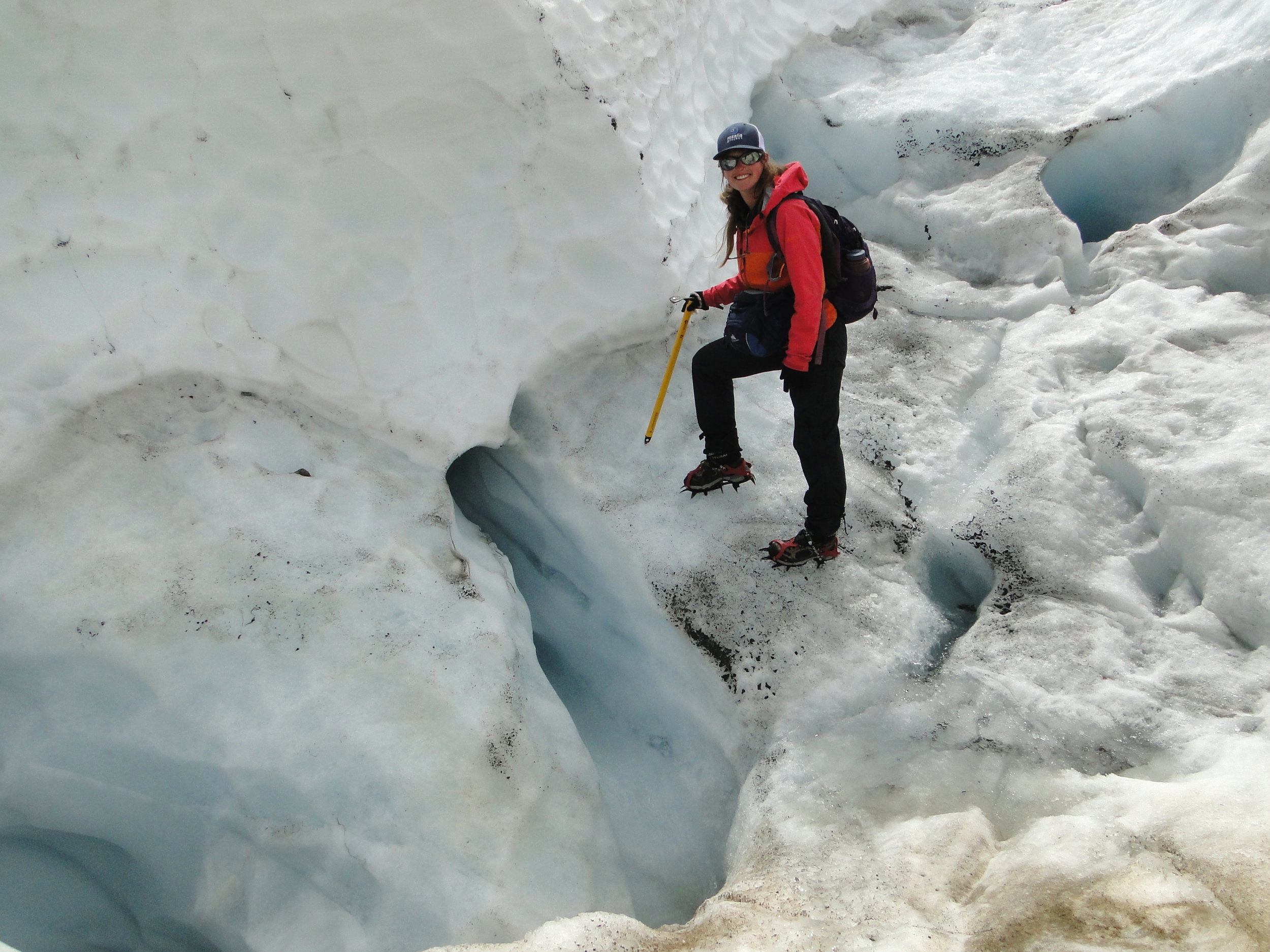 Working on the Rainbow Glacier, Mt. Baker, WA, with the North Cascade Glacier Climate Project