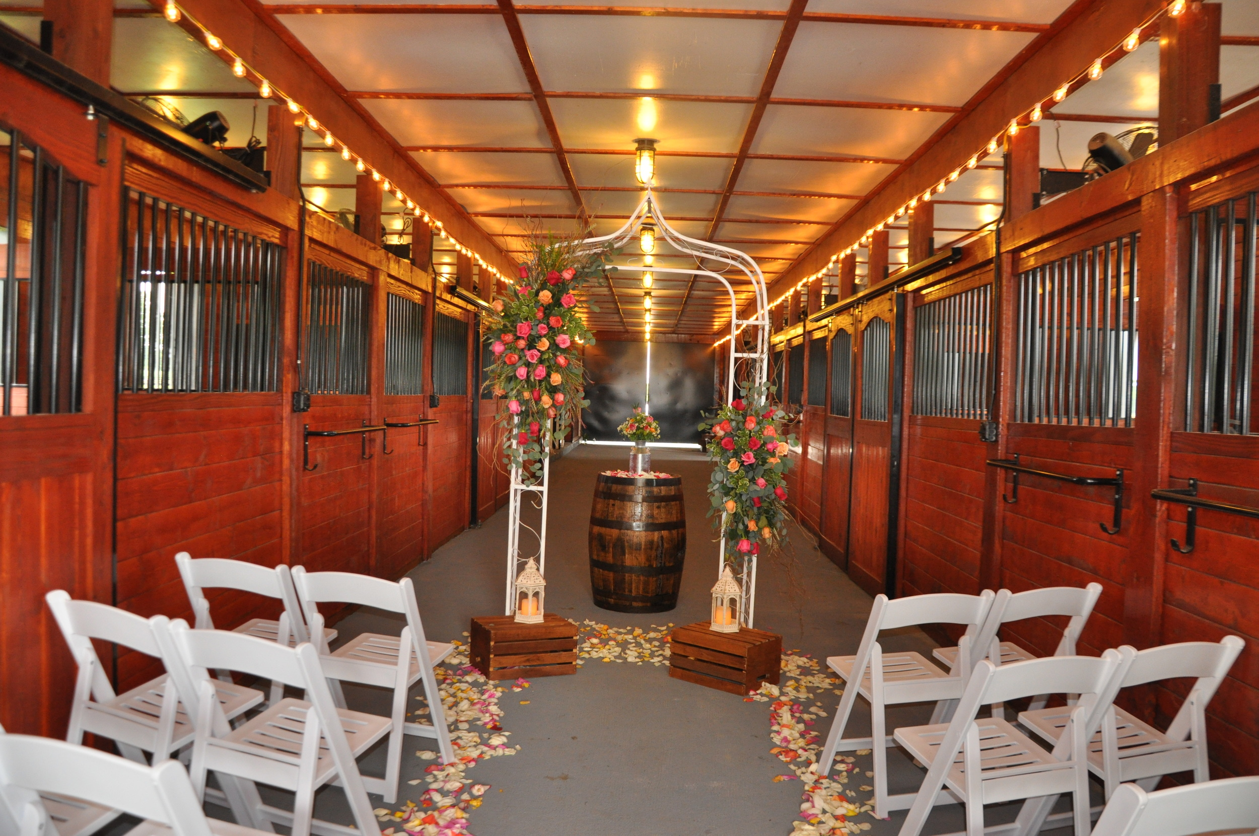 Carriage Barn ceremony