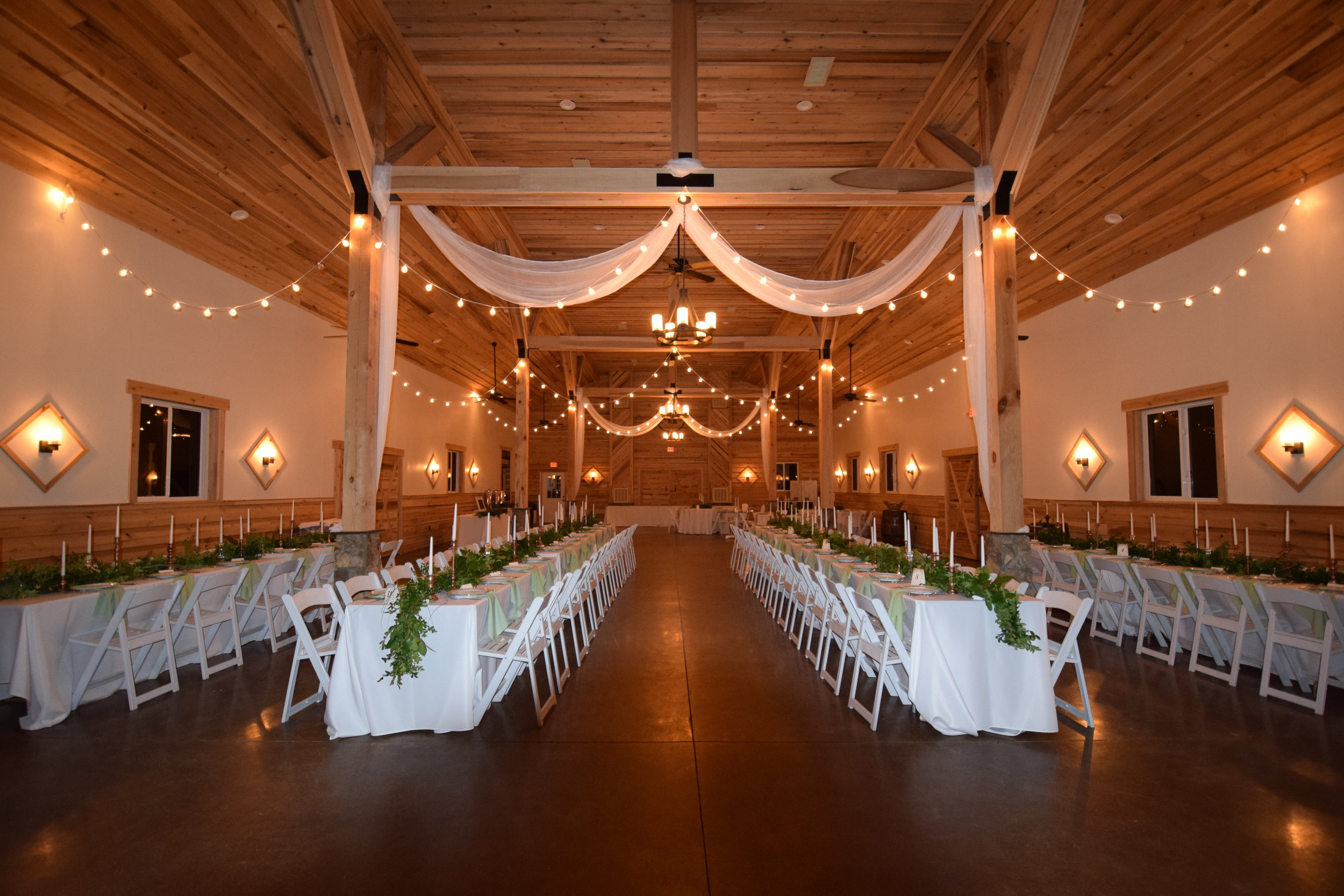 rectangle table reception seating