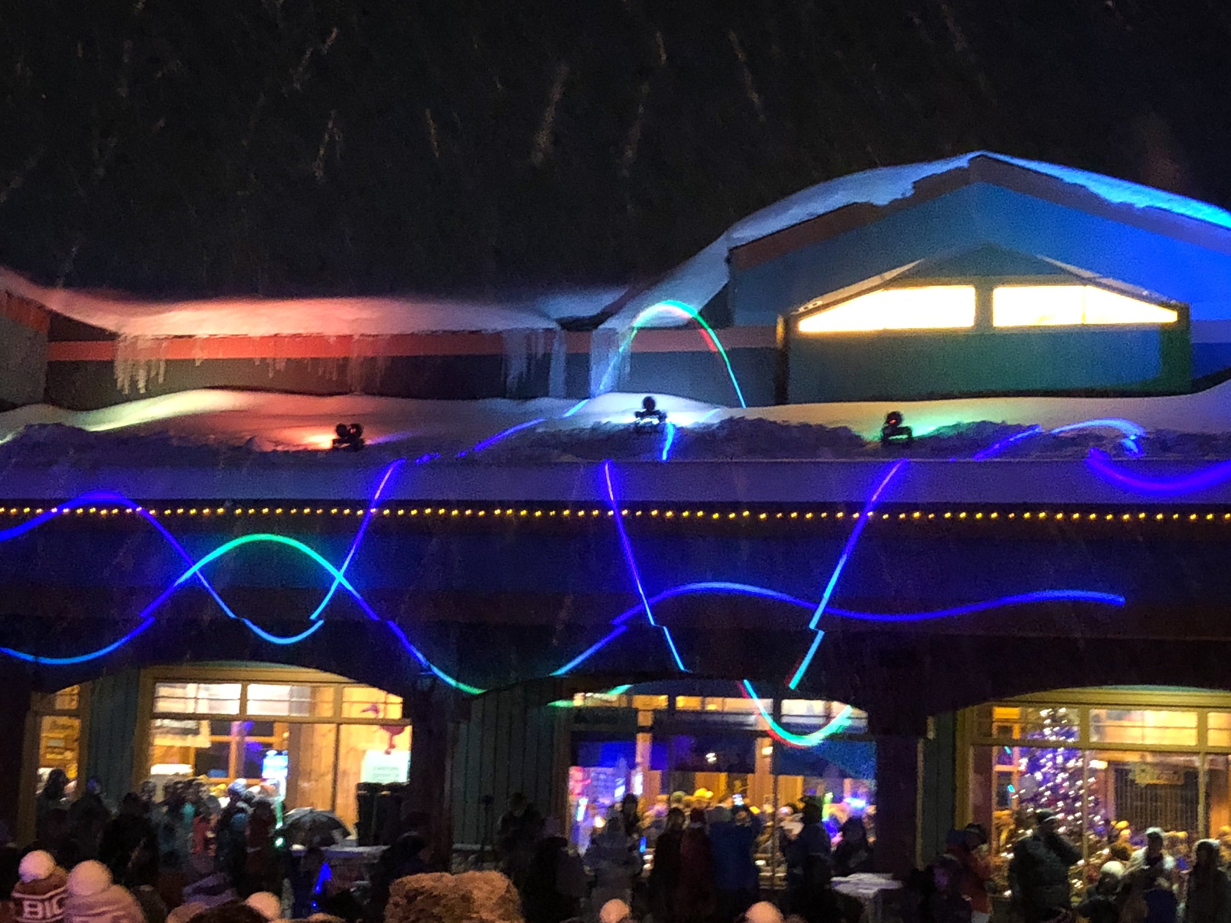 Laser Light Show at Big White Light Up 2017