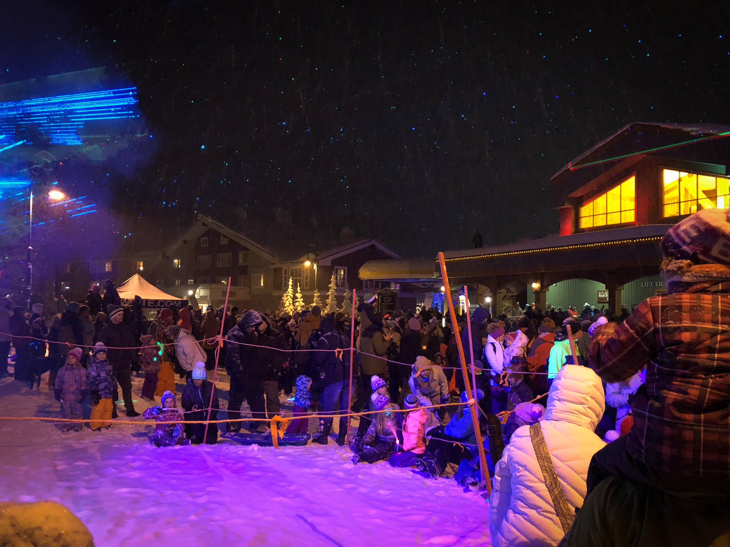 Crowd of People at Big White Light Up Event 2017