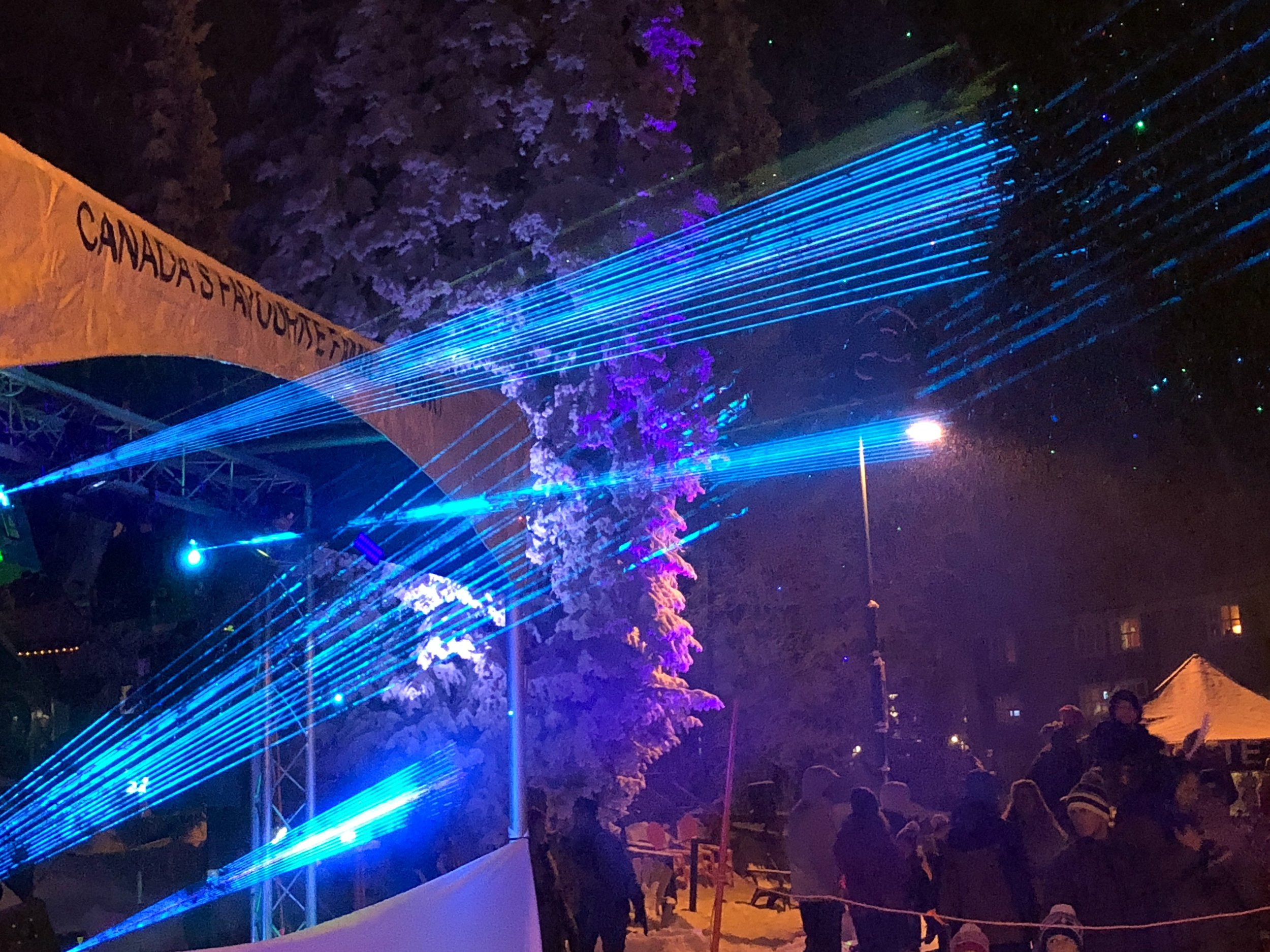 Look At These Lasers at Big White Light Up Event 2017