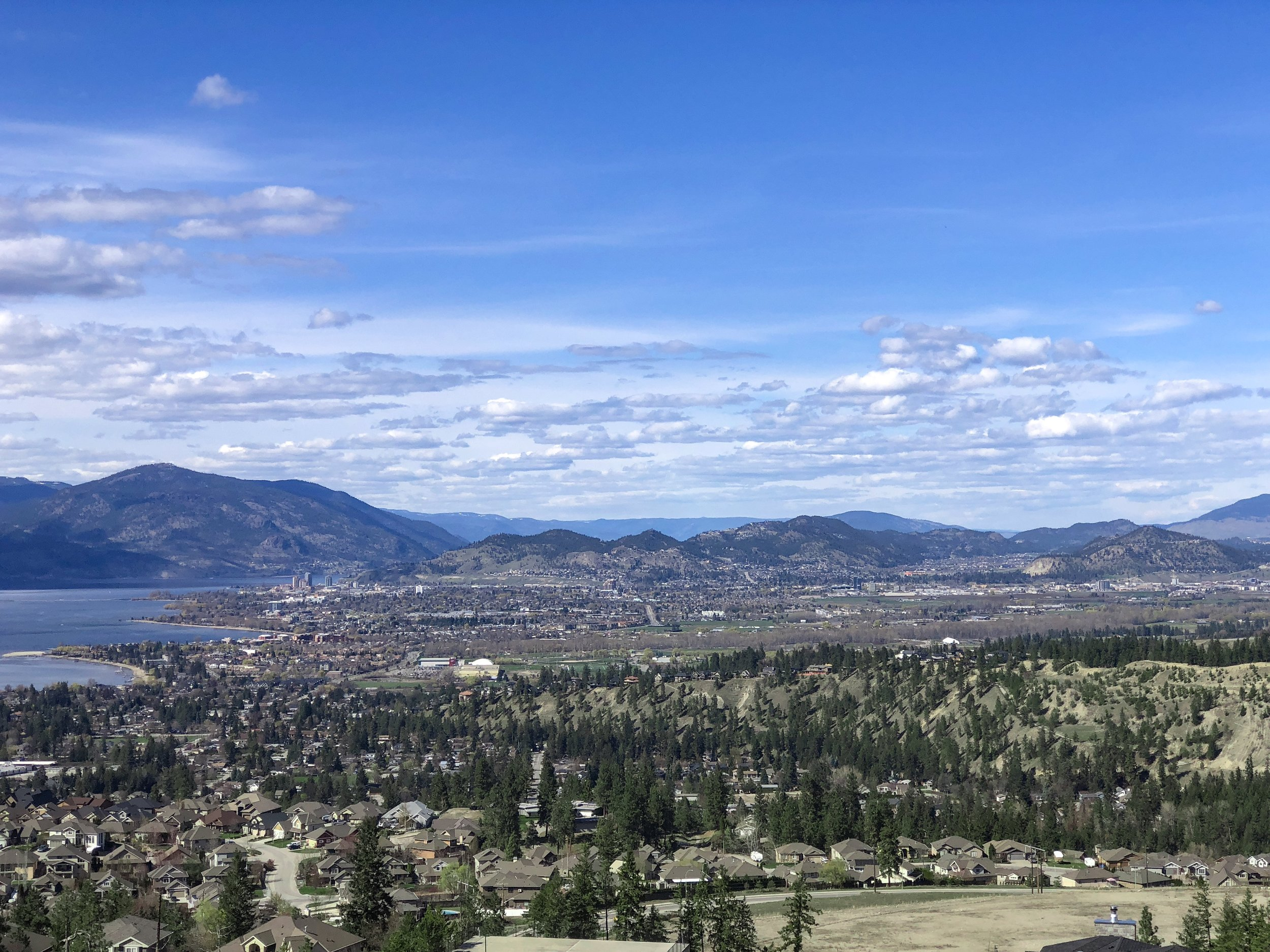 Kelowna View From Dilworth Mountain