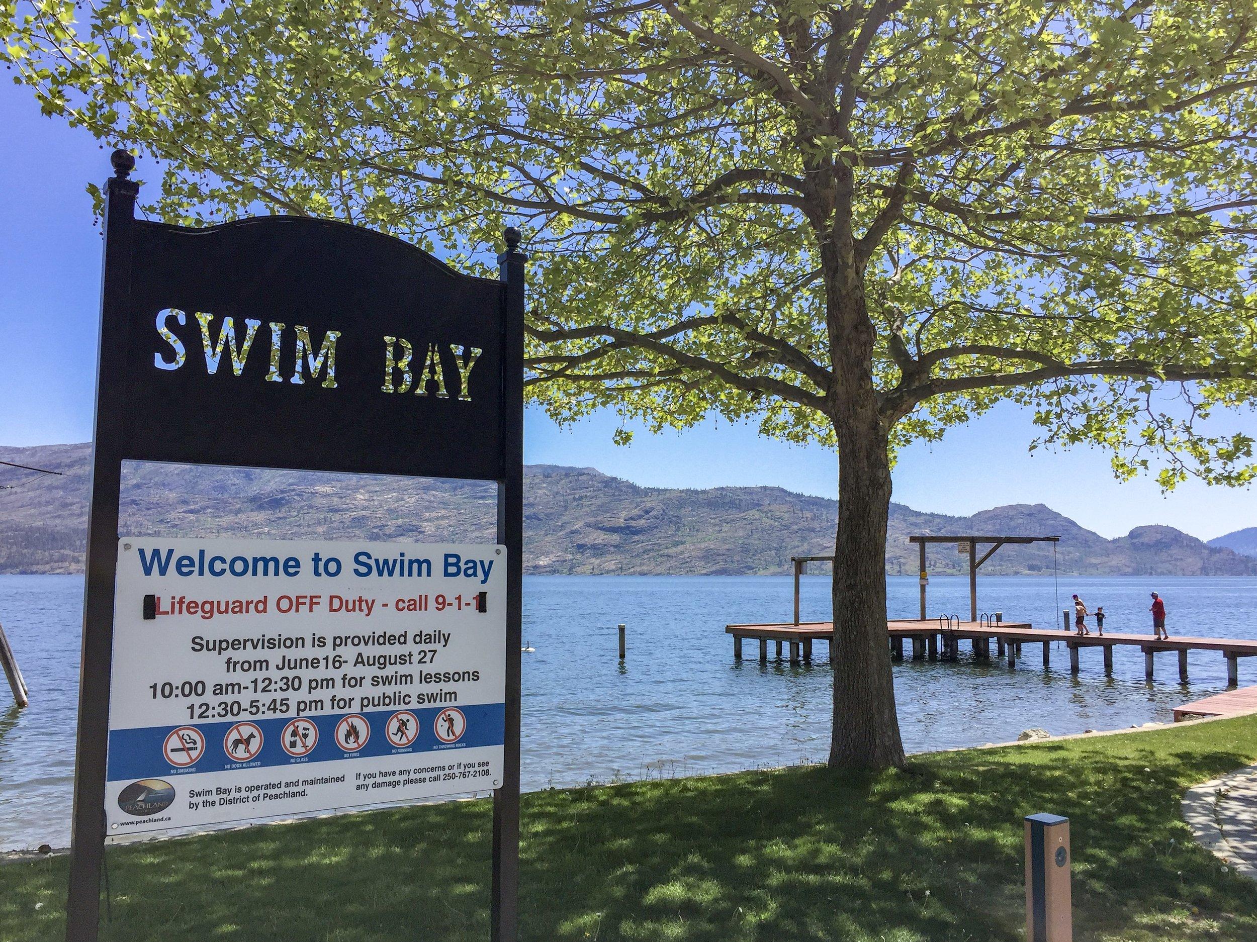 Swim Bay Beach Avenue Downtown Peachland