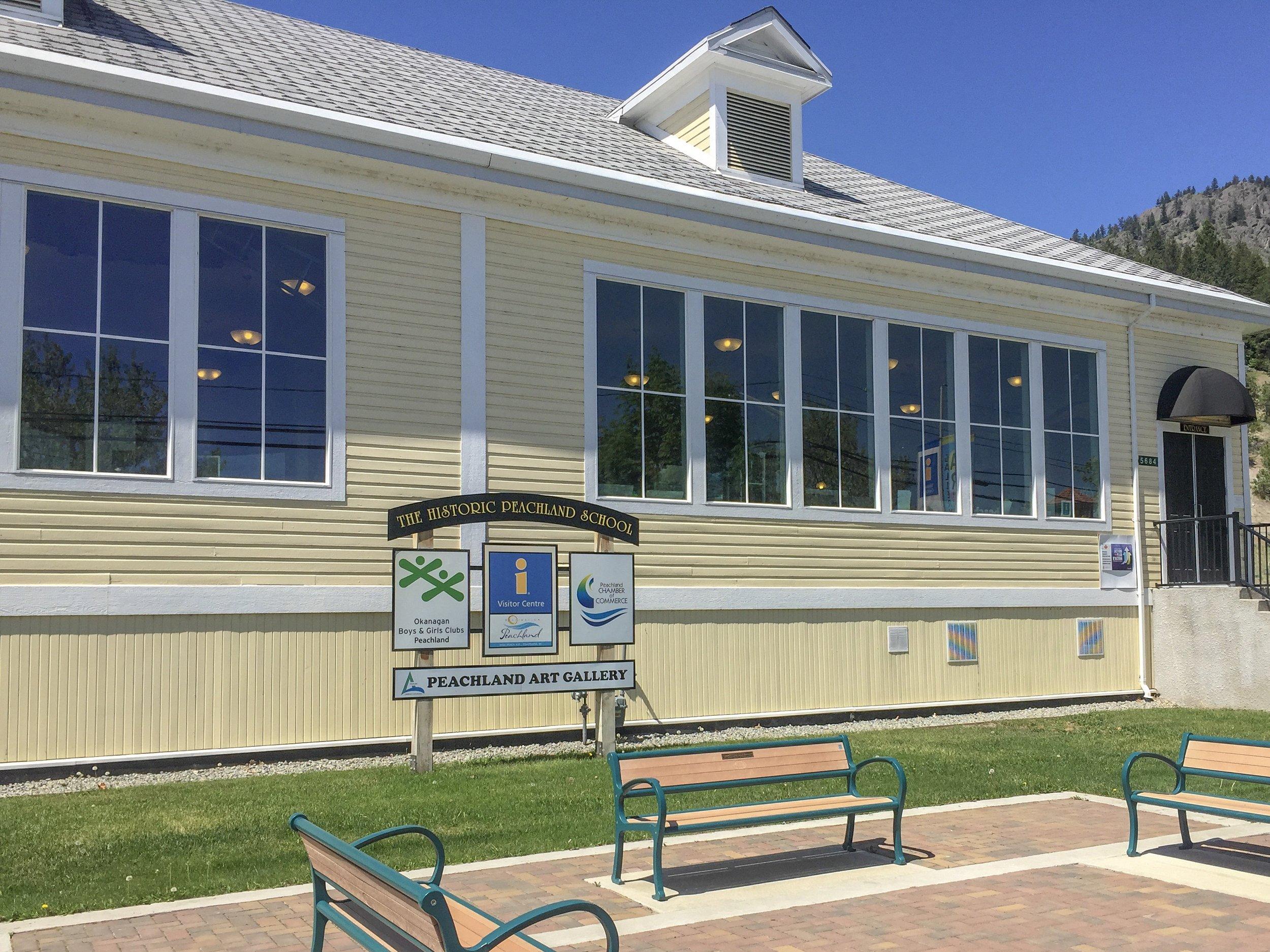 Peachland Art Gallery on Beach Avenue Downtown Peachland Neighbourhood
