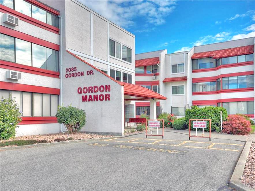 Gordon Manor condo building in Kelowna, BC.